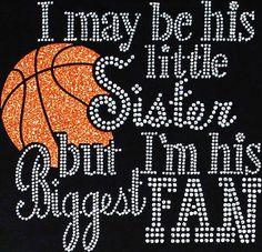 Rhinestone Iron On Basketball Sister Rhinestone by BlingMeBaby, $12.99