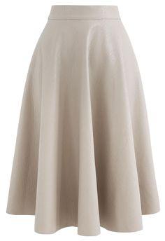 Led Dress, Knit Cowl, Faux Leather Skirt, Crochet Trim, Line Design, Unique Fashion, Fall Fashion, Emboss, Midi Skirt