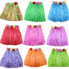 Grass Skirts - Different colours available.