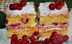 Fantastická bublanina. Šťavnatá, chutná a zároveň i osvěžující díky rybízu. Sezóna rybízu vrcholí tak si připravte luxusní koláček, který potěší každého. Autor: Blažena Sponge Cake, Vanilla Cake, Food And Drink, Sweets, Cooking, Desserts, Cakes, Vanilla Sponge Cake, Sweet Pastries