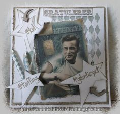 Her har jeg brukt den fine Bigz Die- Stars Primitive fra Sizzix 656340 og Thinlist Die sett 4 PK. Mixed Media by Tim Holz 660220 Kule. Storytelling, Primitive, Mixed Media, About Me Blog, Cards, Layouts, Mixed Media Art, Couture Facile, Maps