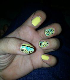 Electric yellow #butterlondoncheekychops #sephoraformulaxchaotic Electric, Nail Polish, Yellow, Nails, Beauty, Finger Nails, Ongles, Nail, Beauty Illustration