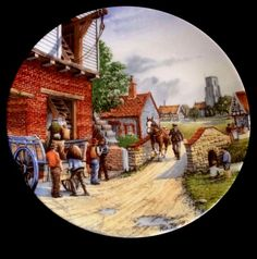 Royal Doulton Limited Edition The Water Mill - Journey Through The Village Plate