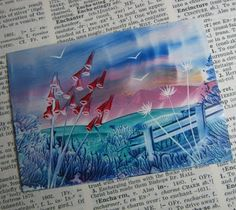 Your place to buy and sell all things handmade Encaustic Painting, Painting Art, Wax Art, Altered Canvas, Chalk Pastels, Illuminated Letters, Artist Trading Cards, Wood Engraving, Mixed Media Canvas