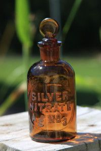 Collecting Antique Medicine Bottle.... Like this brown Silver Nitrate bottle with glass stopper