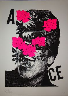 Rainflower - Pink (Silkscreen Signed Limited Edition of 25) by A.CE