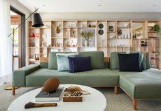 Living Room Plan, Living Area, Living Room Decor, Living Spaces, Bookshelf Design, Home Room Design, Home Libraries, House Rooms, Interiores Design
