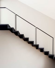 Image 17 of 17 from gallery of Portales Dwelling / Fernanda Canales. Photograph by Fernanda Canales Exterior Handrail, Staircase Handrail, Interior Staircase, Railing Design, Staircase Design, Outside Stairs Design, Steel Stairs, Steel Railing, Multi Family Homes