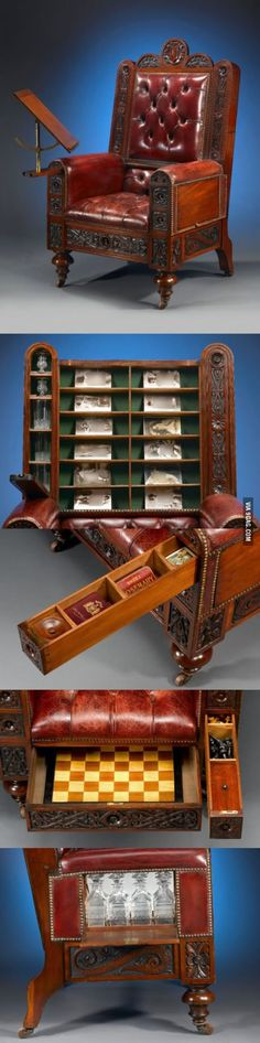 """""""Gentleman's surprise chair"""" ca. 1880"""