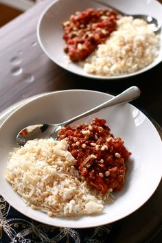Allayeh (Middle Eastern Bolognese) beef, tomatoes, pine nuts and spices