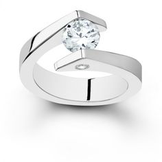 Tension Engagement Ring Setting #jewelry #modern