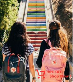 School's right around the corner. It's never too early to start back-to-school shopping. Make a statement with the pink Fjallraven Kanken backpack. Pink Kanken, Kanken Mini, Mochila Kanken, Kånken Rucksack, Kanken Backpack, Fjallraven, Fashion 90s, Vintage Outfits, Back To School Shopping