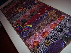 Quilted Table Runner - Australian Table Runner - Aboriginal Table Runner - Cotton Table Runner - Prints.. $40.00, via Etsy.