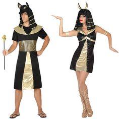 Pareja Reyes Egipcios Anubis #parejas #disfraces #carnaval #novedades2016