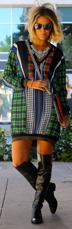 Multi Mix Prints Mini Shift Dress by What Courtney Wore