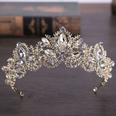 Crystal Tiaras Crown Wedding Hair Accessories