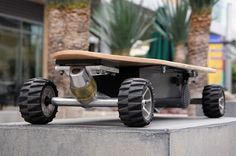 The ZBoard is reportedly the first motorized skateboard to operate by sensing the user's shifting weight. IT works like this: by pressing a foot on either the front or rear foot pad, the system is able to determine your weight distribution on the deck. Press on the front and forward to accelerate, press on the rear and lean back to engage the regenerative brakes. Does this mean I'll stop wearing out the soles of just my left shoes on the many hills of San Francisco? I sure hope so.