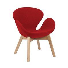meble - fotele-Fotel w stylu skandynawskim czerwony