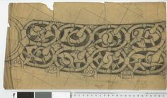 Oseberg, slede - translate into embroidery pattern for tunic
