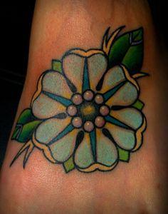 old school flower tattoo - Google Search
