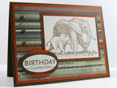 ... another masculine card using Serengeti.. Elephants