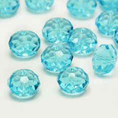 10mm Light Blue Crystal Bead Faceted Quartz Bead Loose Beads 20pcs Czech Bead