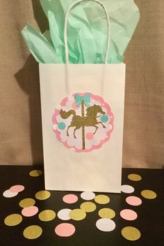 Carousel favor bags carousel goody bags by Awesomepapercreation