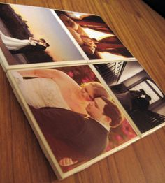 wedding gift photo coasters. works for new baby gift, too.