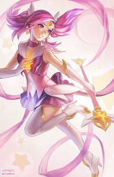 Star Guardian Lux - League of Legends Star Guardian Lux, Fanart, Sailor Moon Character, Thing 1, Drawing Games, Lol League Of Legends, Marvel, Cartoon Pics, Cute Characters