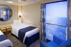 The 9 Best Cruise Ship Inside Cabins - Virtual Balcony on Navigator of the Seas (photo: Royal Caribbean)