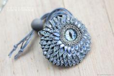 Кулон-амулет с глазом серо-голубой – купить в интернет-магазине на Ярмарке Мастеров с доставкой