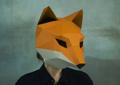 Make Fox Mask, DIY Animal Head,3D Polygon Masks, Instant Pdf download, Paper Mask,Low Poly,Papercraft Face Mask,Template,Printable,Costume Pages: 19 Difficulty:medium What do I get if I buy one of your products? You will get: - Instant download file containing mask pattern and instructions - Instructions in English - Help File with illustration of the building steps - Fitting instructions. Are the masks coloured? No, our mask patterns are not coloured. You need to glue the patterns on ...