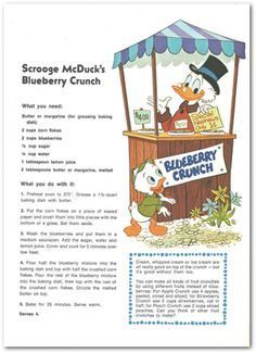 my grandmother gave me this Disney cookbook when i was a kid. i can clearly remember making this recipe with her in her kitchen.  i might just make it again, purely for the nostalgia