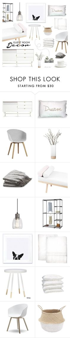"""Guest Room Decor"" by theseapearl on Polyvore featuring interior, interiors, interior design, home, home decor, interior decorating, Blu Dot, HAY, LSA International and Crate and Barrel"