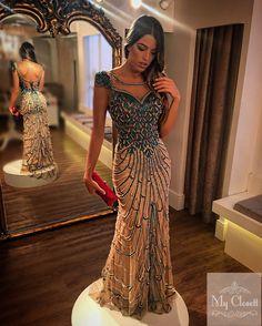 Vestido de pedraria, vestido de formatura, evening dress, bordado , cristais , pérolas, dress to impress, My Closett