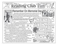 "MEMORIAL DAY - Enjoy a ""Remember On Memorial Day""-themed Two-Page Activity Set and Word Search Puzzle with this discounted bundle. Includes the following products:               Remember On Memorial Day Two-Page Activity Set               Remember On"