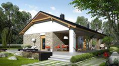 Projekt domu Daniel G2 energo 120,64 m² - koszt budowy - EXTRADOM Modern Architecture House, Modern House Design, Architecture Design, Single Storey House Plans, Modern House Floor Plans, Farm Plans, Beautiful House Plans, Weekend House, Modern Bungalow