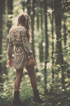 ⁎⋆☾☥•。.:☀☼☀:.。•☥☽⋆⁎ ☮ patterned long sleeve dress
