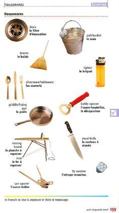 vocab - housewares