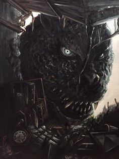 Staring into the face of Godzilla All Godzilla Monsters, Godzilla Comics, Cool Monsters, Classic Monsters, Monster Concept Art, Monster Art, King Kong, Godzilla Tattoo, Dragon Rey