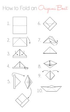 Maritime Makers, How to Fold a Paper Boat printable