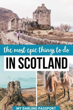 The Most Epic Things to do in Scotland. How to plan a short trip to Scotland! This guide will show you all the must see spots in Scotland when you don't have a lot of time. A quick and easy Scotland travel guide, and tips to take pretty photos. #scotland #scotlandtravel | Scotland travel guide | What to do in Scotland | Scotland travel tips | Weekend in Scotland | Pretty places in Scotland