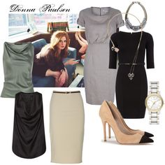A fashion look from February 2013 featuring Dorothy Perkins dresses, Burberry dresses and MANGO tops. Browse and shop related looks. Lawyer Fashion, Office Fashion Women, Womens Fashion For Work, Business Fashion, Work Fashion, Suit Fashion, Fashion Outfits, Mom Outfits, Dressy Outfits
