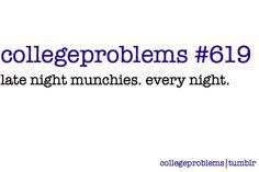 everynight with my roommates. @mia stevens @megan Craghead @Carrie Smith @Jenna Dobry @Tarah Dalebout