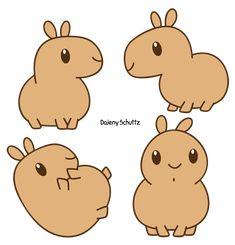Chibi Capybara by Daieny.deviantart.com on @DeviantArt