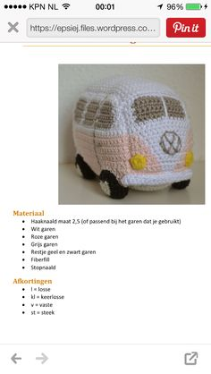 Volkswagen Bus, Cute Crochet, Crochet Toys, Crochet Doll Pattern, Crochet Patterns, Key Covers, Paper Cover, Crochet Purses, Diy And Crafts