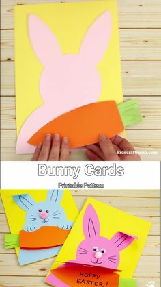 This Easter craft for kids is so fun! Make cute Carrot Nibbling Easter Bunny Cards easily with the free printable template. This hungry Easter bunny craft is adorable! rabbit crafts for kids Carrot Nibbling Easter Bunny Cards Easter Crafts For Toddlers, Easter Arts And Crafts, Toddler Crafts, Preschool Crafts, Kids Crafts, Easy Crafts, Easy Diy, Easter Ideas For Kids, Toddlers And Preschoolers