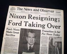 """""""The News and Observer"""" observes the news that we're getting a new president in the 70s. Search Rare Newspapers for pinworthy headlines."""
