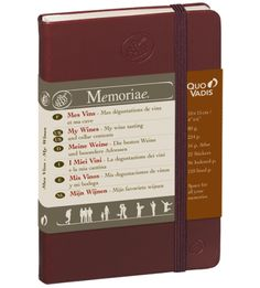Quo Vadis Notebooks and Planners Memoriae journal 'My Wines' is for the special ones who truly enjoy and contemplate the finer things in life.