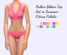Sims 4 CC's - The Best: Halter Bikini Top Set by christmasfear